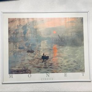 "Monet Gorgeous Print ""Impression Sunrise"""